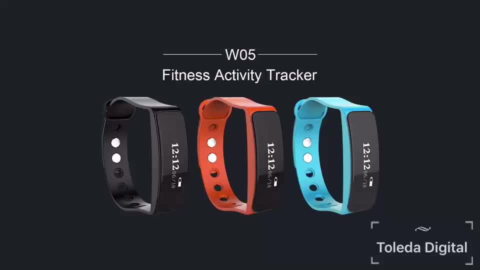 Waterproof IP66 fitness blue health band patent Design activity tracker sport smart bracelet with SDK