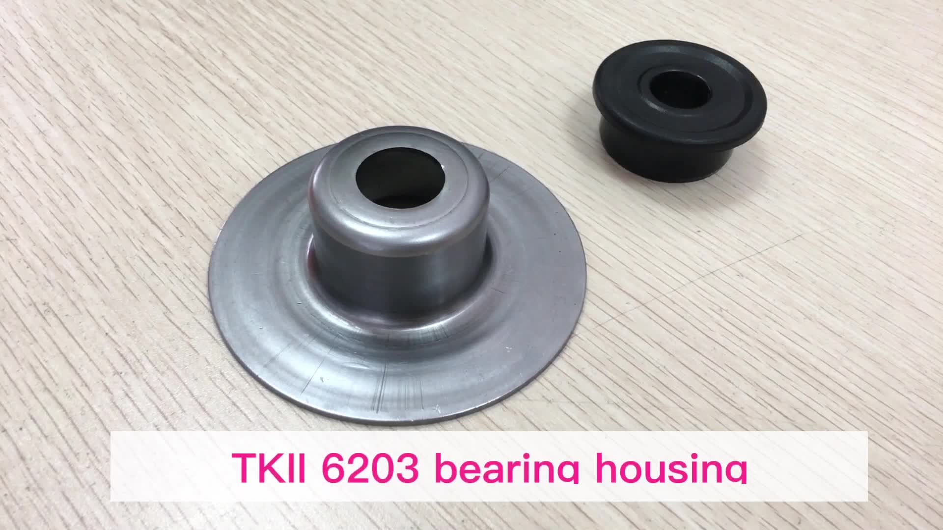Customize steel bearing housing bearing support for 6203 bearing with labyrinth seals