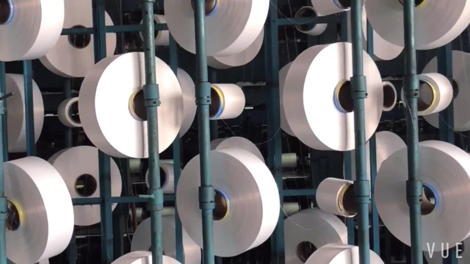 Polyester yarns ATY yarns 450D 288F semi dull Polyester air textured yarns