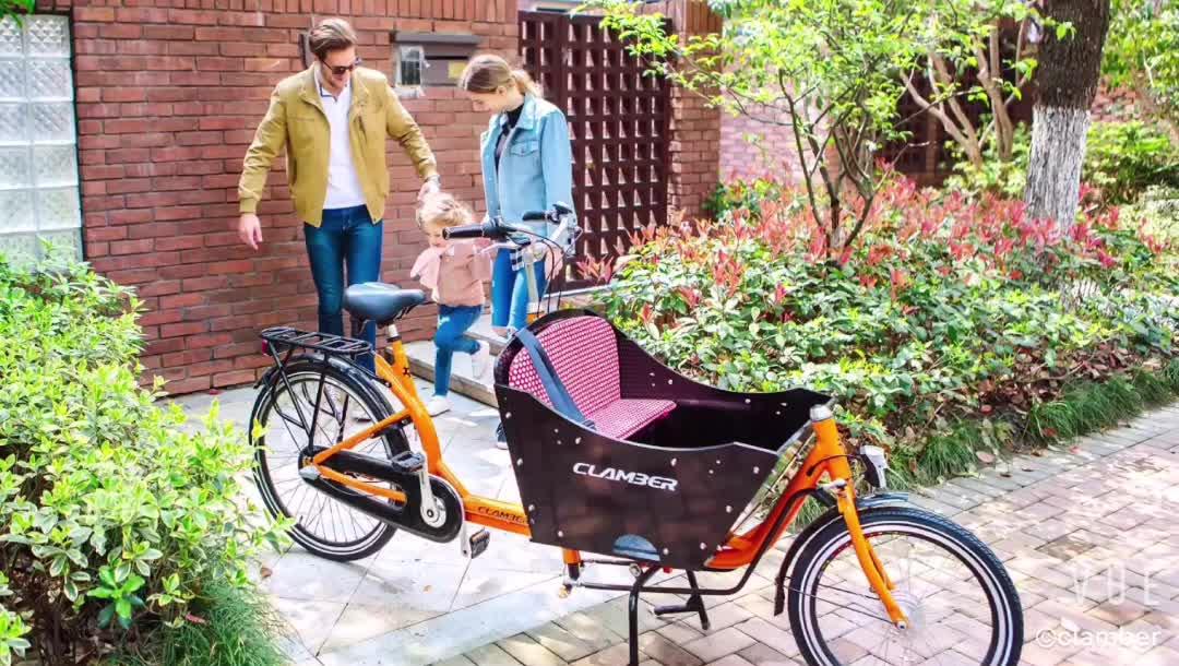CE 3 rodas de 7 velocidades bicicleta de carga elétrica triciclo para adultos com a bicicleta de carga da bateria de lítio de 36 V 9A 250 W bicicleta elétrica GB7019E