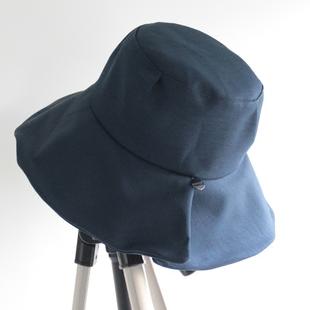 日系大帽檐渔夫帽子女夏季遮阳帽