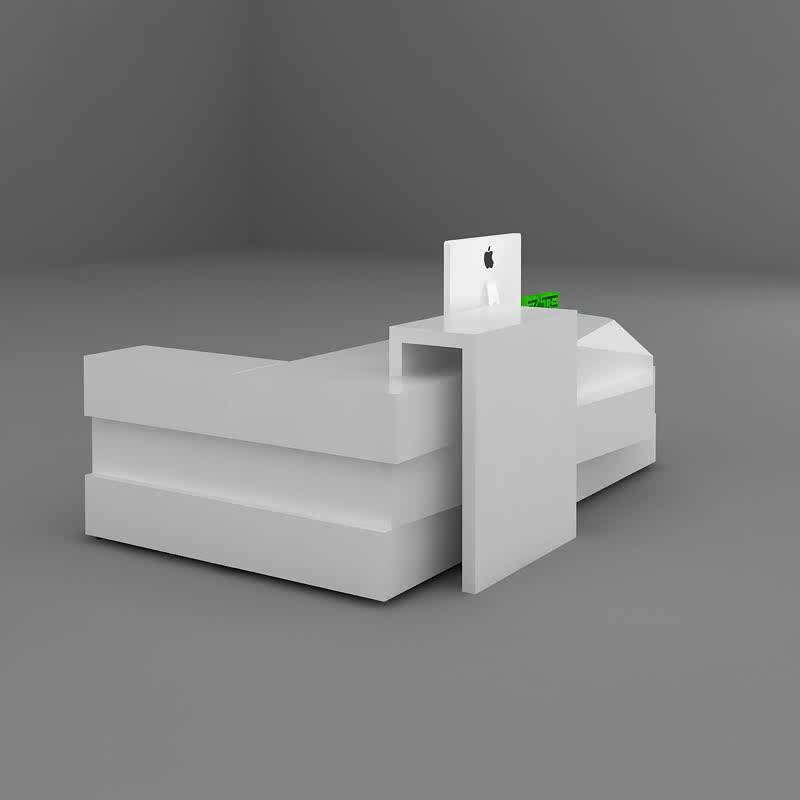8ft moderne wit gelakt receptie teller L vormige schoonheidssalon houten receptie