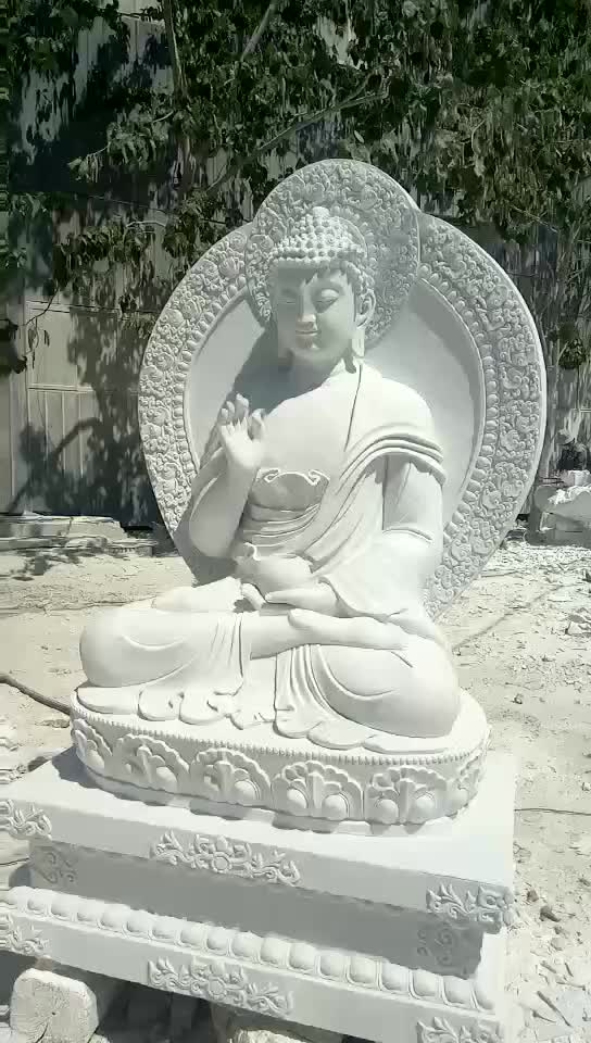 High Quality Marble Sculpture china suppliers Chinese Style New product Sitting on lotus Guanyin Buddha