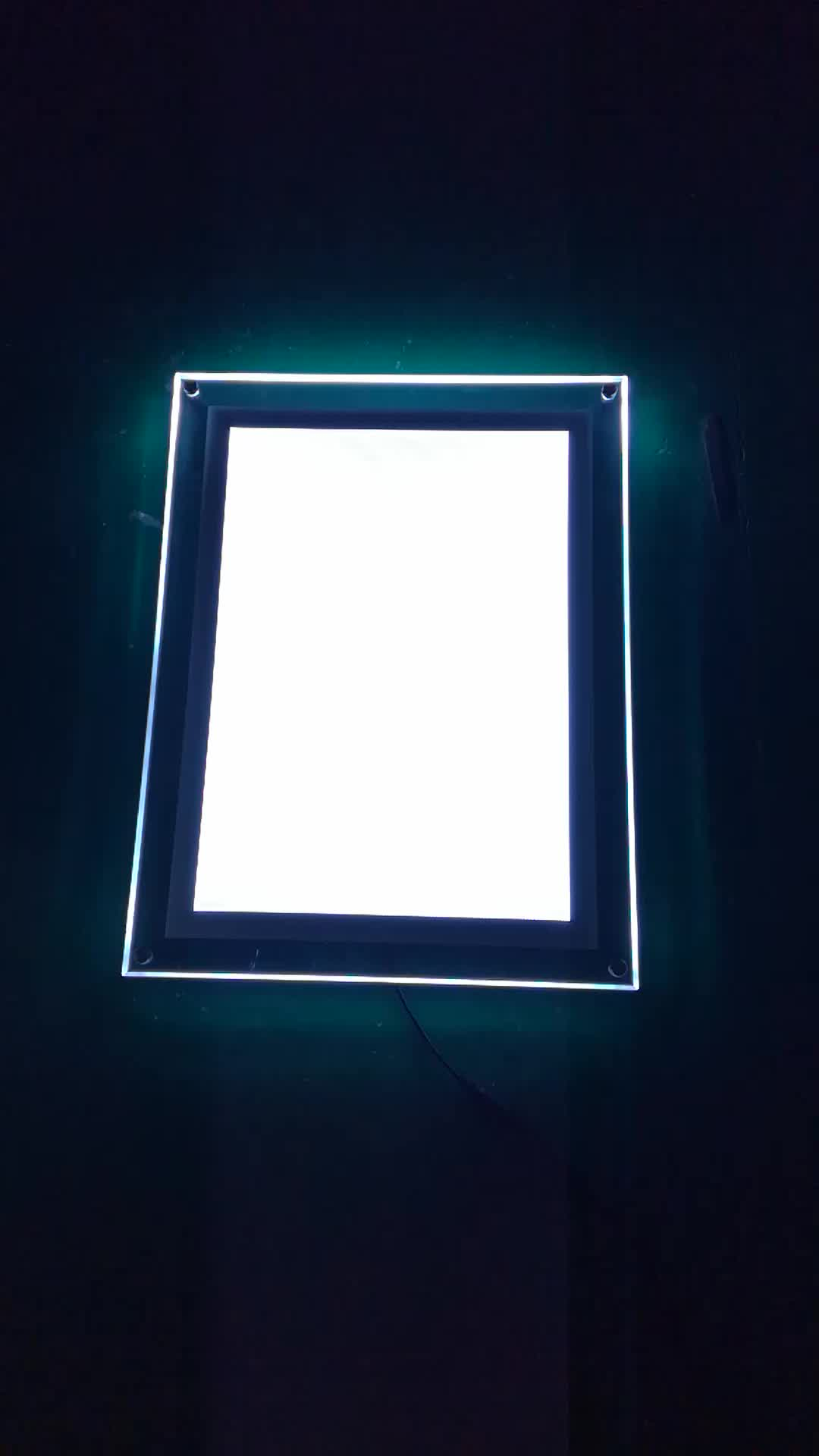 Led Menu Board Fast Food Restaurant A3 A4 Crystal Picture Frame ...