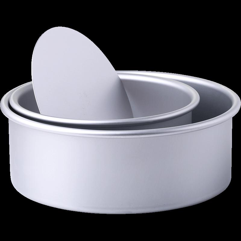 展艺圆形活底阳极戚风蛋糕模具6寸8-10-12寸不沾烘焙工具烤箱家用