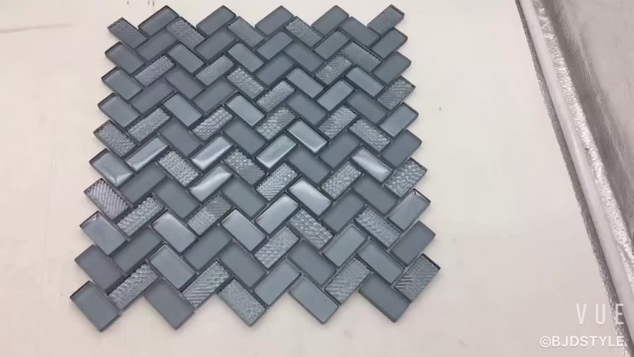 Best Price Professional Custom Glossy&matte Herringbone Tile Mosaic ...