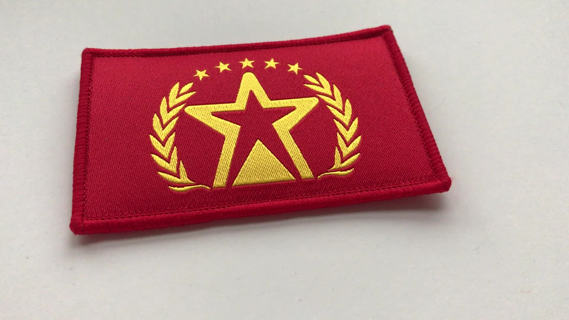 College Embroidered Patches, Custom Souvenir Embroidered Arm Patches