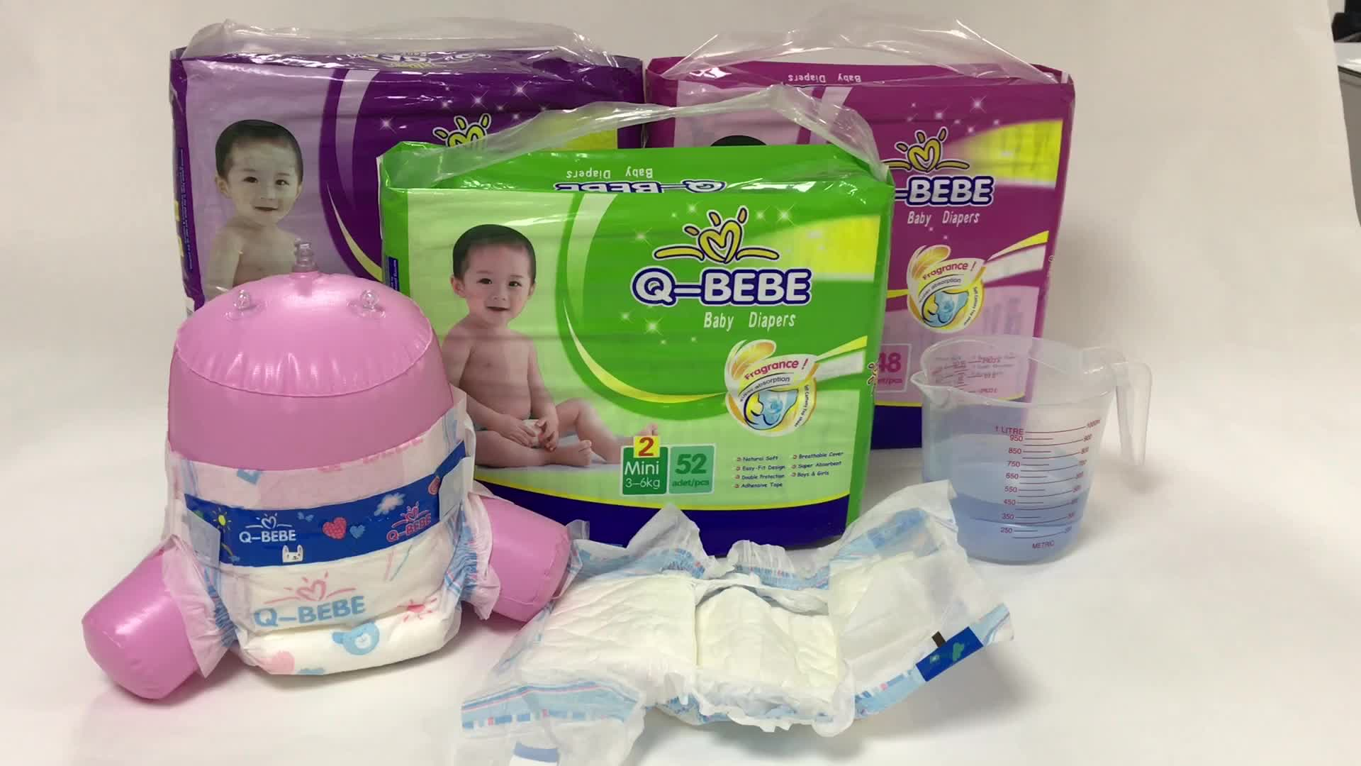 High quality own brand Q-BEBE Disposable Baby Diapers manufacturer in china