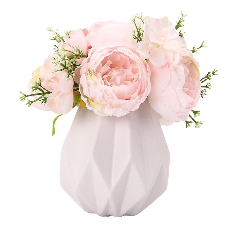 欧式绢花玫瑰仿真假客厅餐桌干花