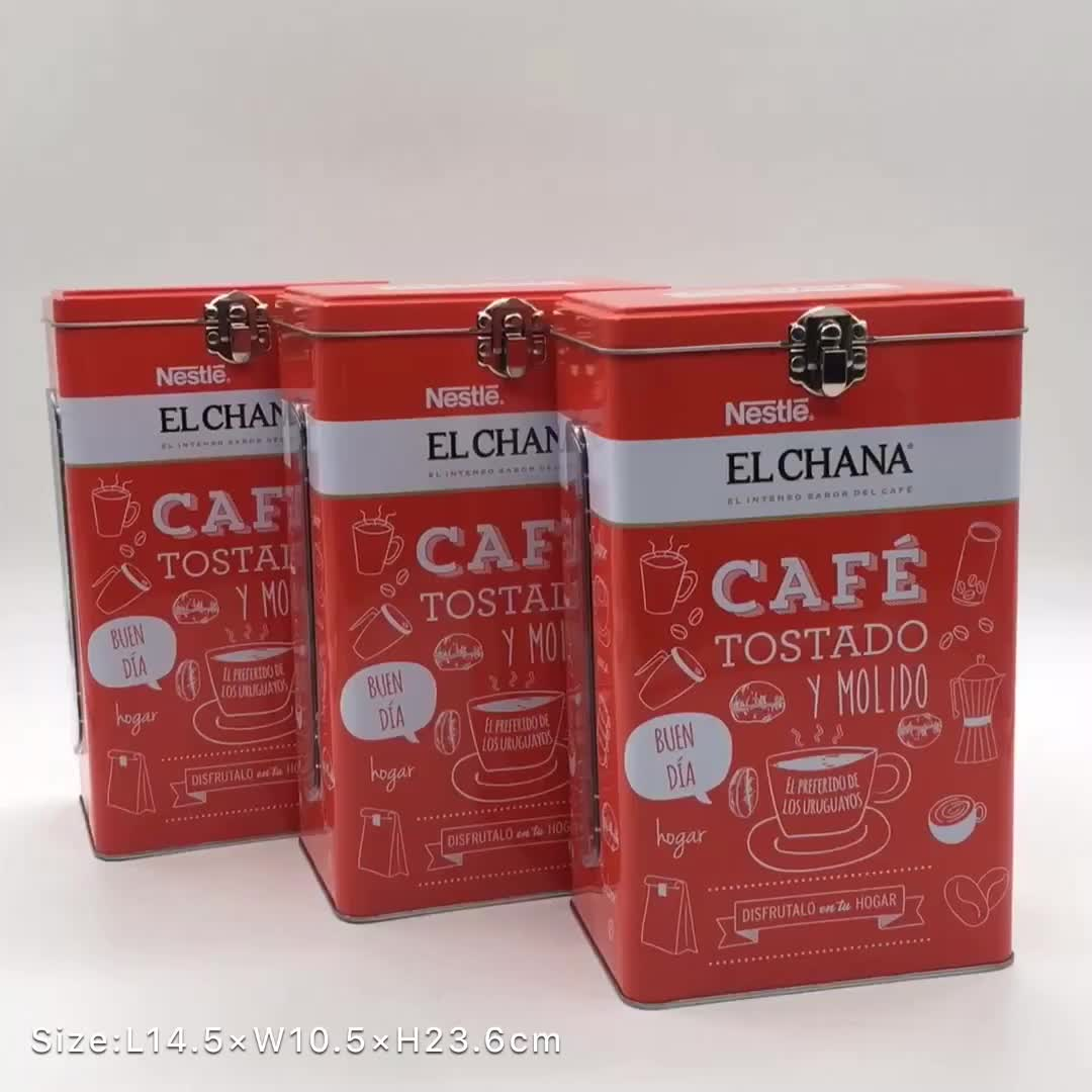 Best price exquisite safety instant top coffee powder tin box for coffee and tea packing with embossed wholesale