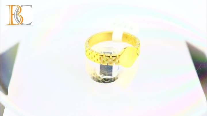 latest man gold finger stainless steel ring designs no stone