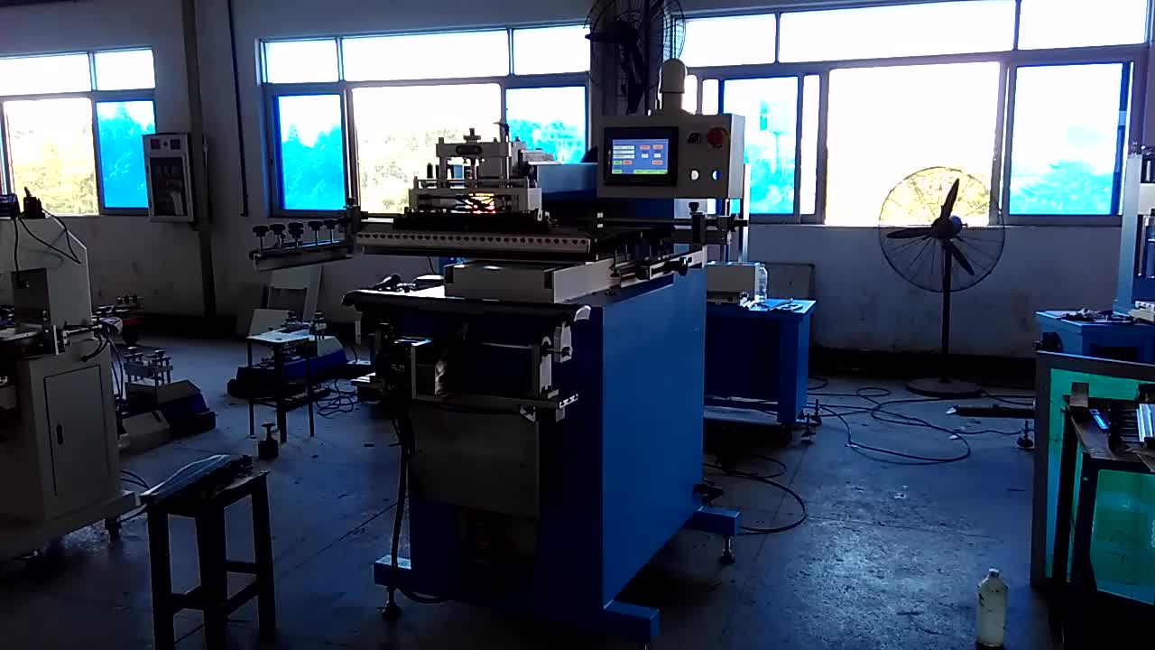 PLC Servo system screen printer for plastic tube printing