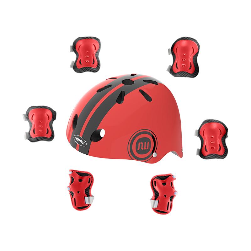 轮滑护具儿童头盔骑行全套装备护膝