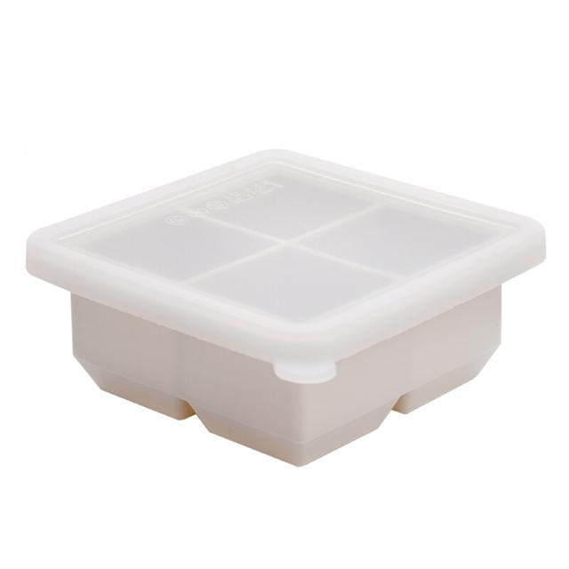 日本硅胶冰格冰块模具制冰盒婴儿辅食冷冻盒冷饮大块冰格冰块神器