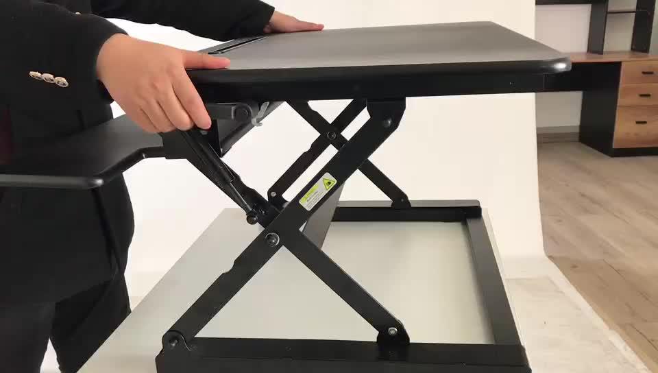 De alta calidad de acero de escritorio del ordenador portátil de altura ajustable soporte de convertidor