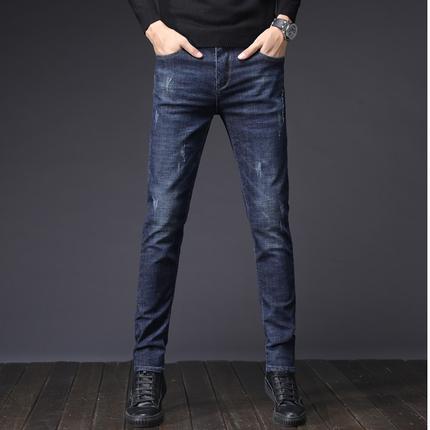 韩版潮流夏季修身小脚男士牛仔裤