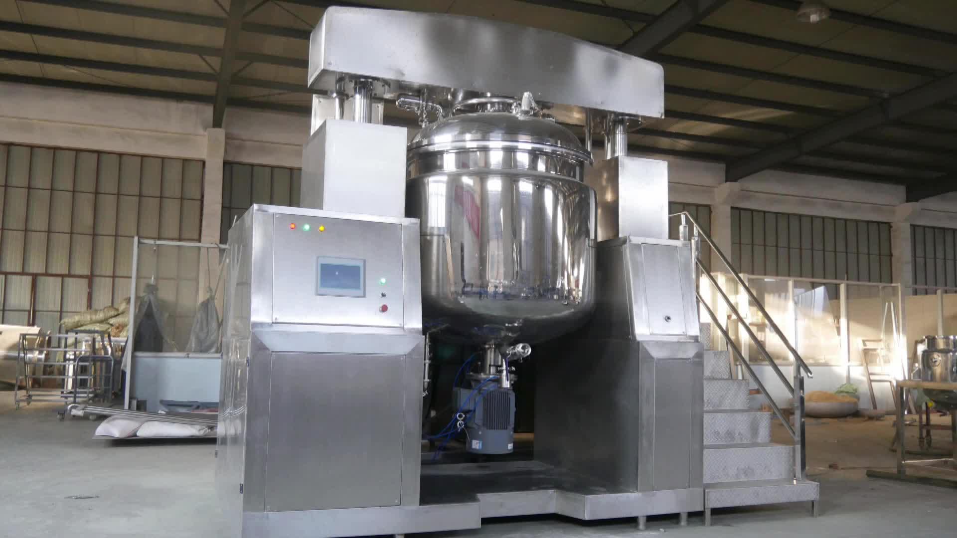 Vácuo de produtos de cuidados da pele cosméticos creme misturador de emulsão do vácuo pomada emulsificante máquina que faz a máquina