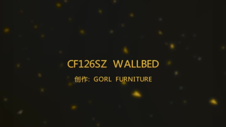 CF126SZ pull out horizontal folding table wallbed with bookshelf