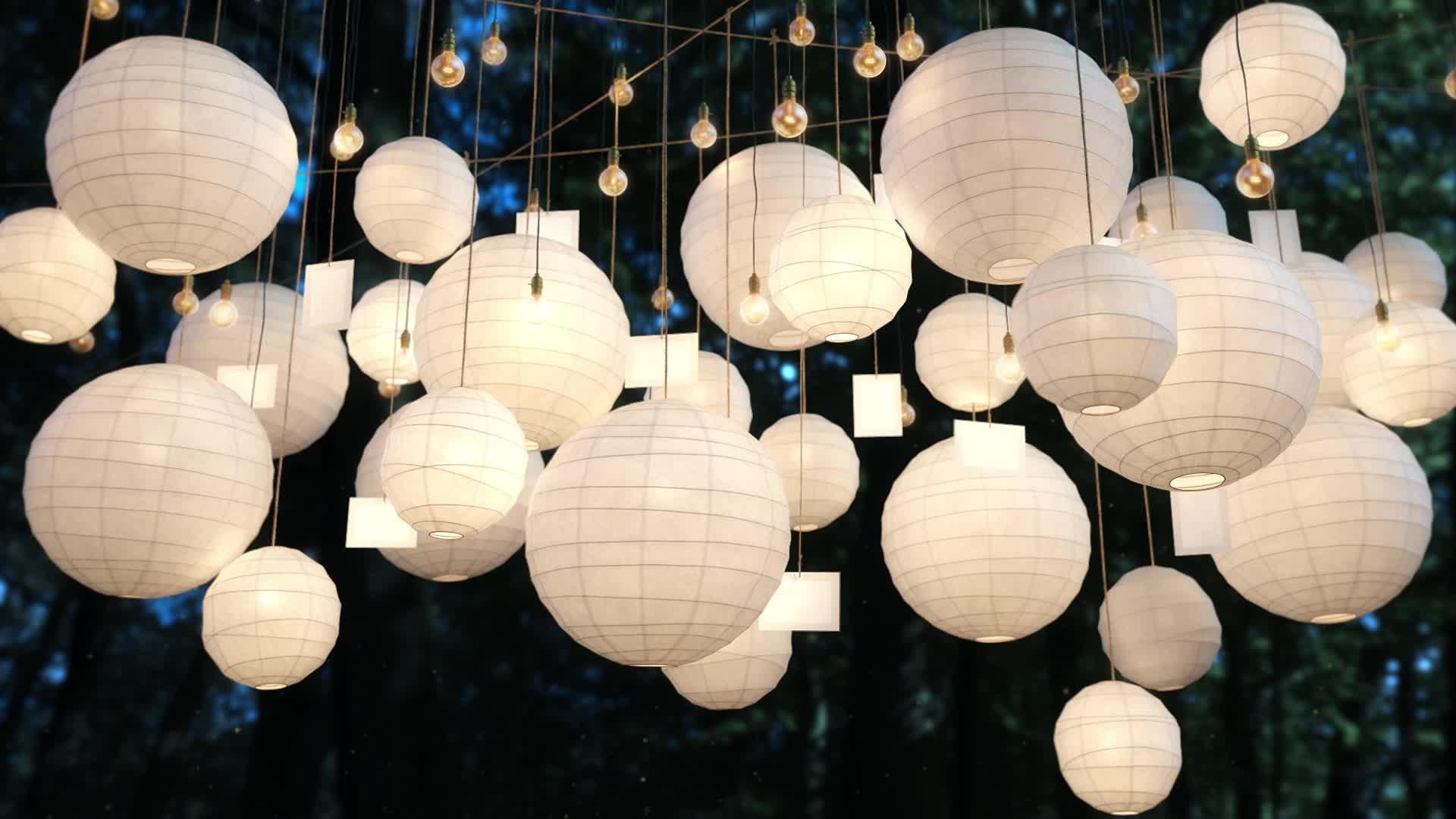 Small Hanging Christmas Wedding Paper Lantern Lanterns
