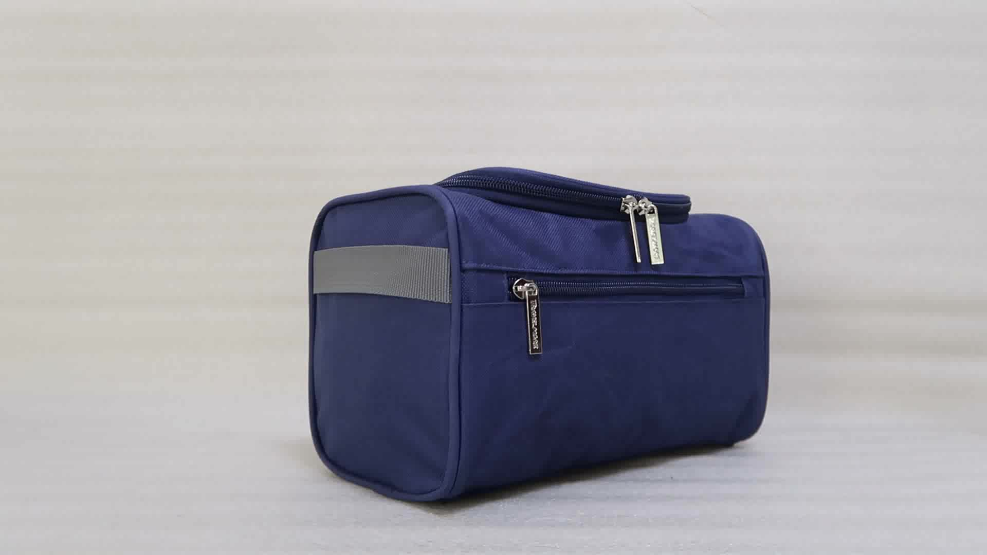 Durable polyester various color customizable travel toiletry bag