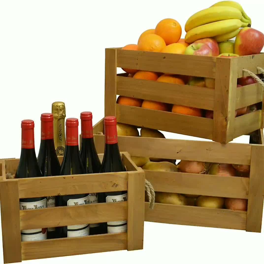 Kleine Großhandel Transport Folding Beer Holz Weinkiste Box