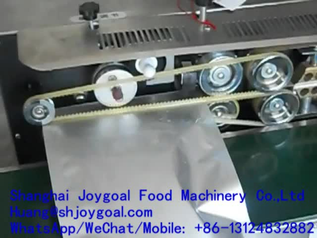 JOYGOAL potato chips salt bag continue plastic bag sealing machine