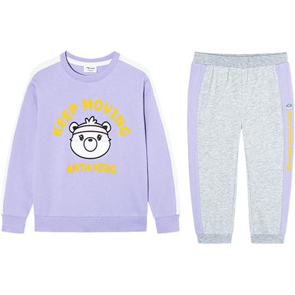 安踏儿童童装运动套装2020卫衣裤子