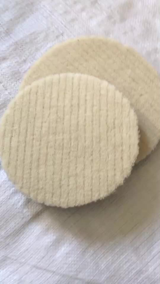 High Quality Single Double Sided Wool Buffing Pad With Wool Polishing