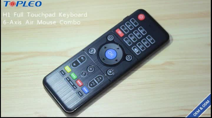 Excellent quality Air Mouse H1 2.4GHz wireless universal remote control keyboard mouse combo with touch pad