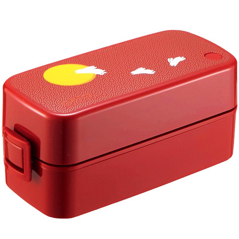 日本ASVEL双层饭盒可爱便当盒日式餐盒可微波炉加热减脂健身套装
