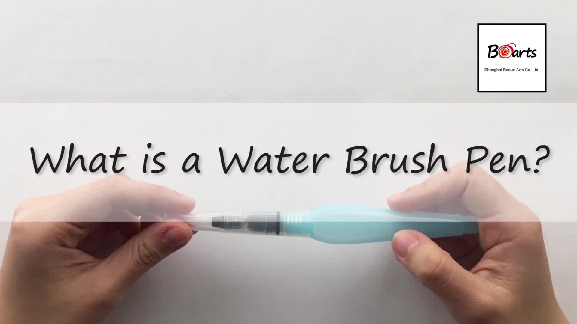 Bianco Manico In Plastica Waterbrush Penna Fai Da Te di Acqua Penna Della Spazzola Per La Pittura Ad Acquerello