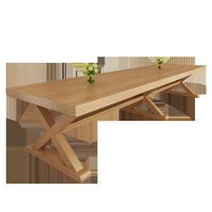 实木会议桌简约现代培训洽谈接待桌