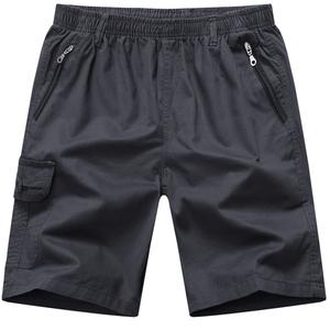 爸爸夏季外穿男士五分裤子纯棉短裤