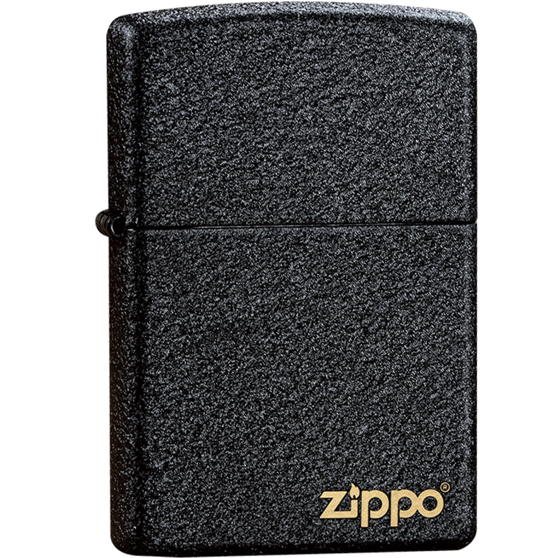 zippo打火机芝宝正版236黑裂漆男士