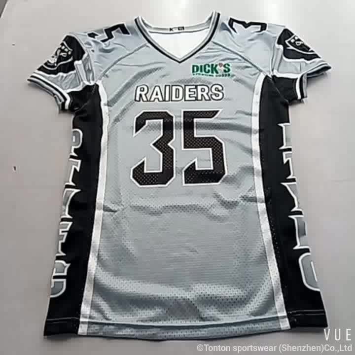 Customized American Football Jersey With Team Logo Number ...