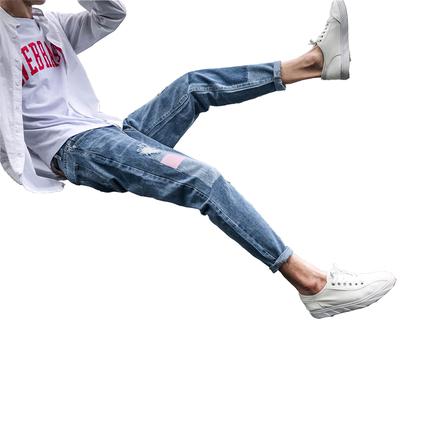 秋季潮牌修身韩版潮流男士牛仔裤