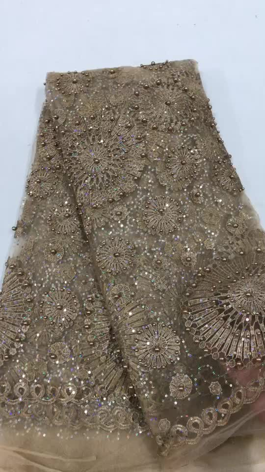Guangdong China provides tulle lace with stones tulle lace fabric