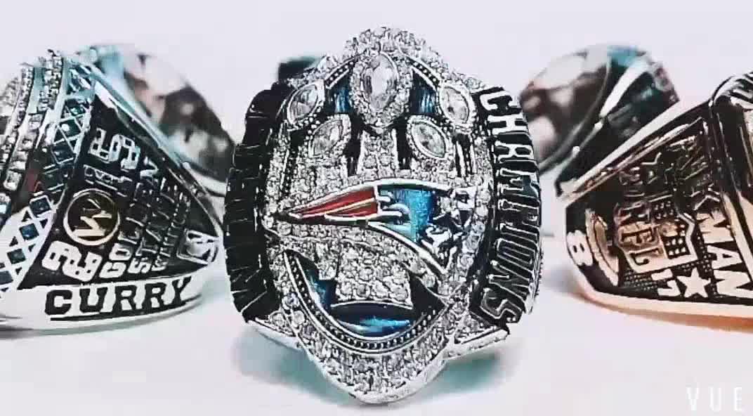 Tamanho 10 americano Kansas City Chiefs Mundo Anel de Campeão Réplica dos homens/Fabricante de Anéis de Alta Qualidade