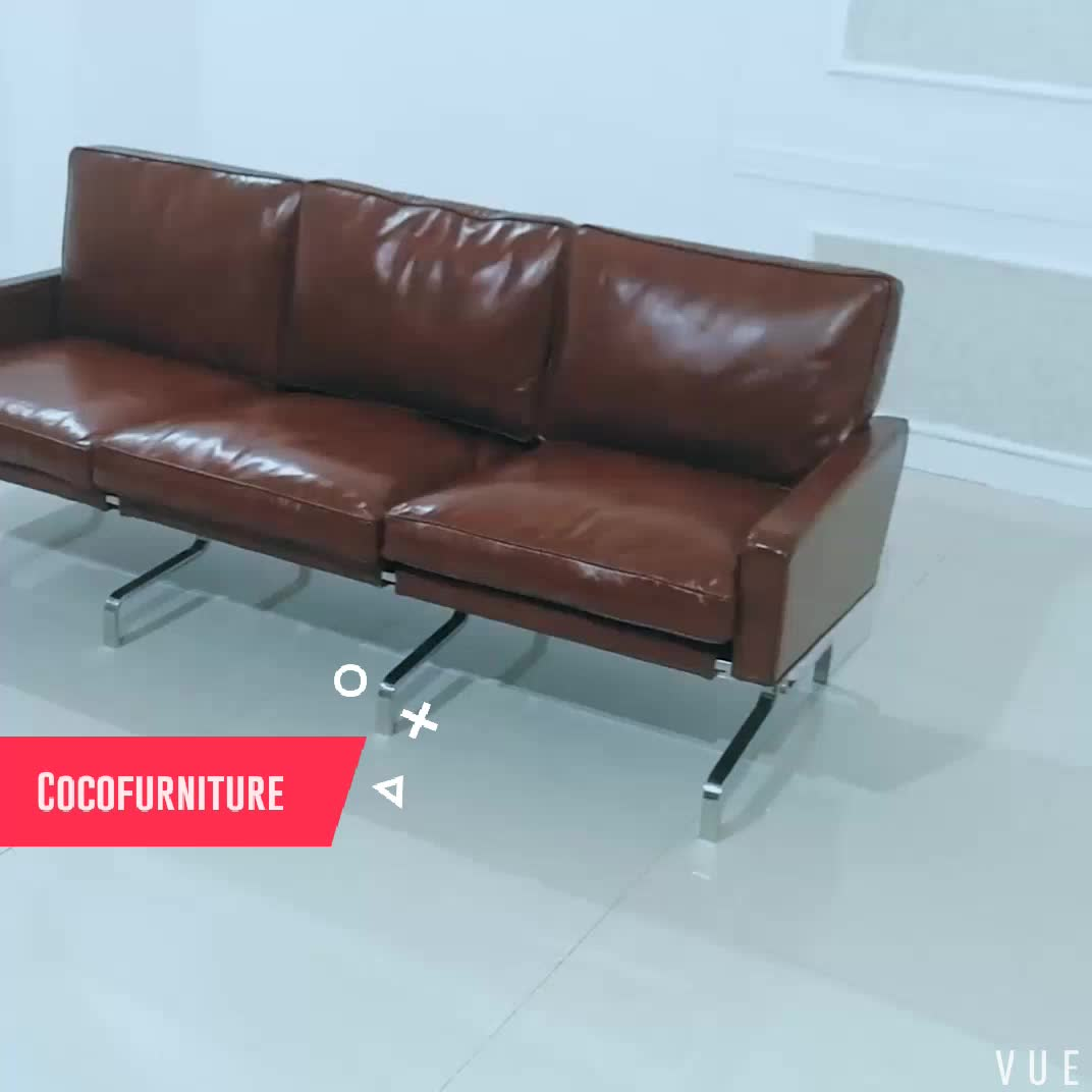 3 seater sofa in leather cognac leather for living room buy pk 31 leather sofa pk31 leather pk. Black Bedroom Furniture Sets. Home Design Ideas