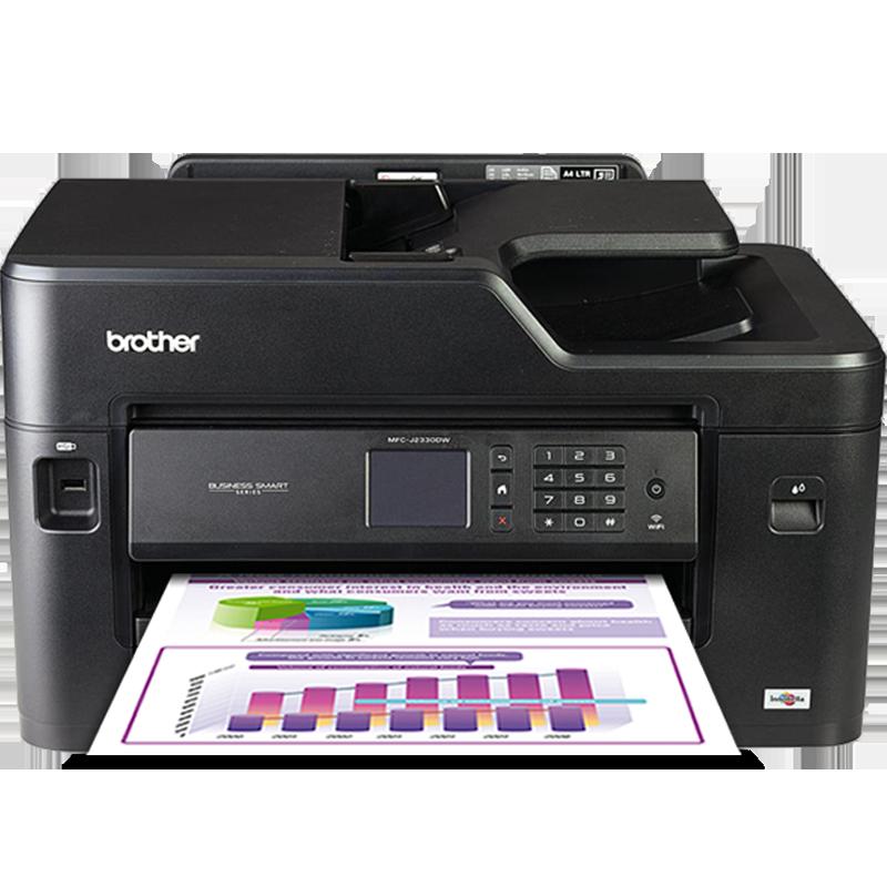 兄弟MFC-J2330DW彩色喷墨照片A3打印机一体机复印扫描A4自动双面打印无线家用办公