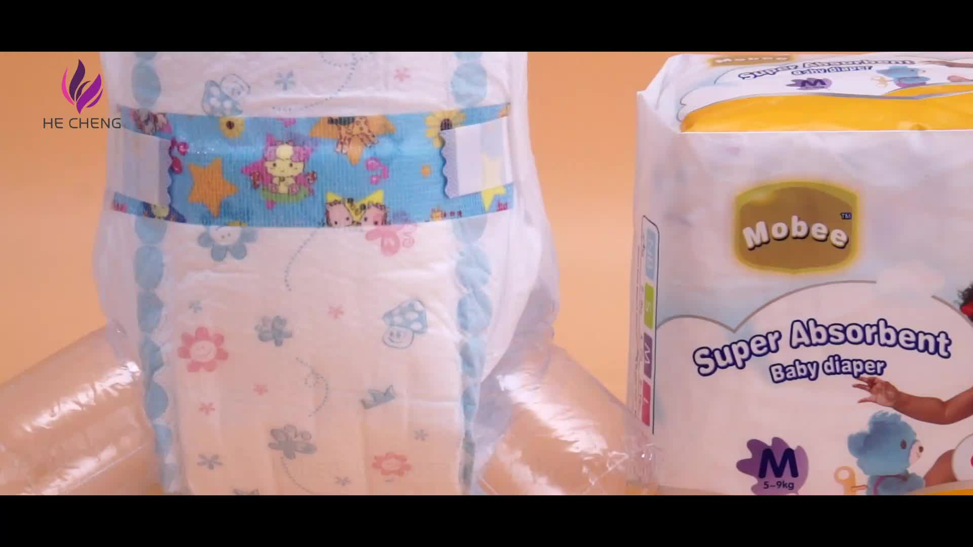 Free sample breathable surface Grade A disposable Private label quality baby diapers