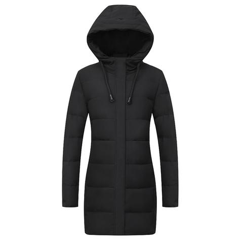 羽绒服女中长款2019年冬新款爆款大码韩版时尚妈妈冬装女装外套