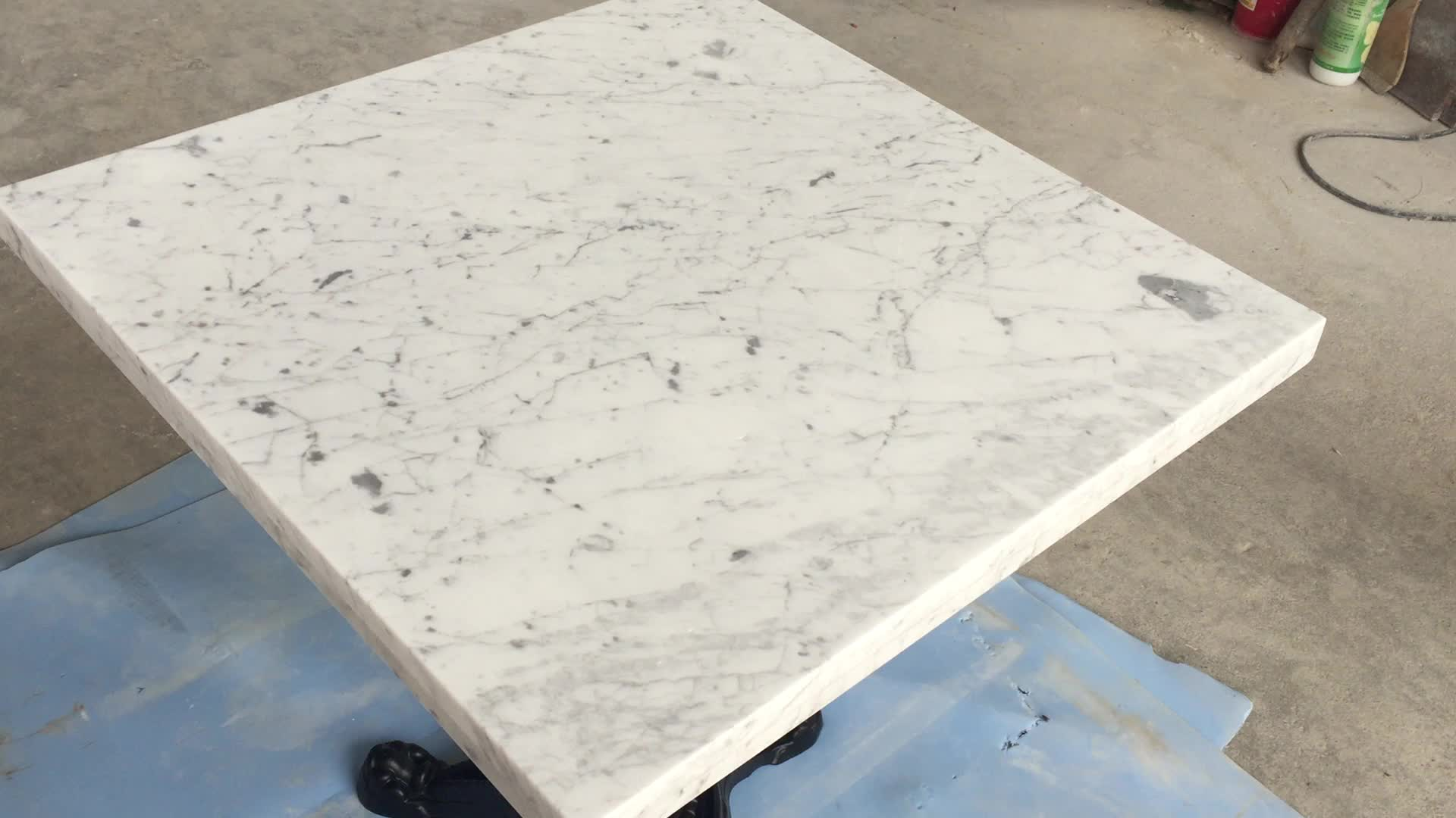 Ideal White Carrara Marble Restaurant Table Top - Buy Restaurant Table  ML82