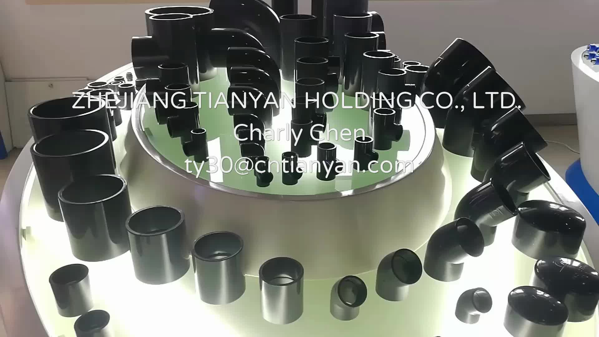 Plastic Pipe Fitting PVC Equal Tee For Water Line