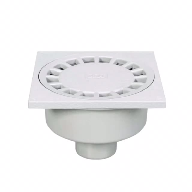 Era pvc drainage pipe fittings square floor drain with