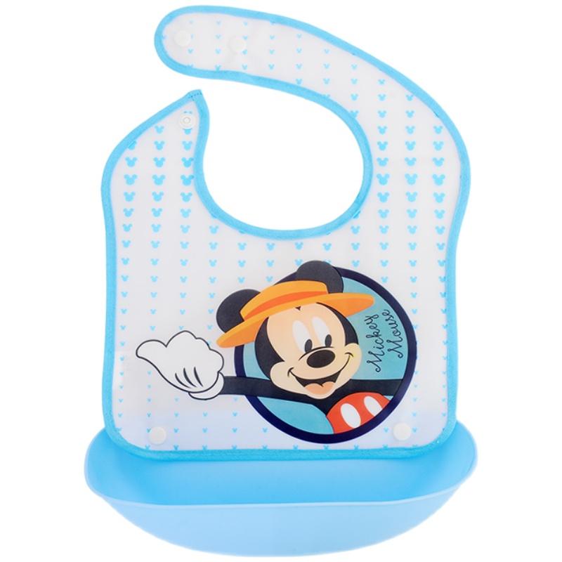 迪士尼宝宝吃饭防水喂饭兜超软围嘴评价好不好