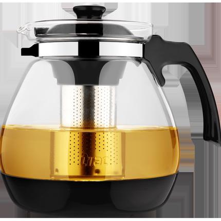 紫丁香耐热玻璃过滤茶杯套装茶壶