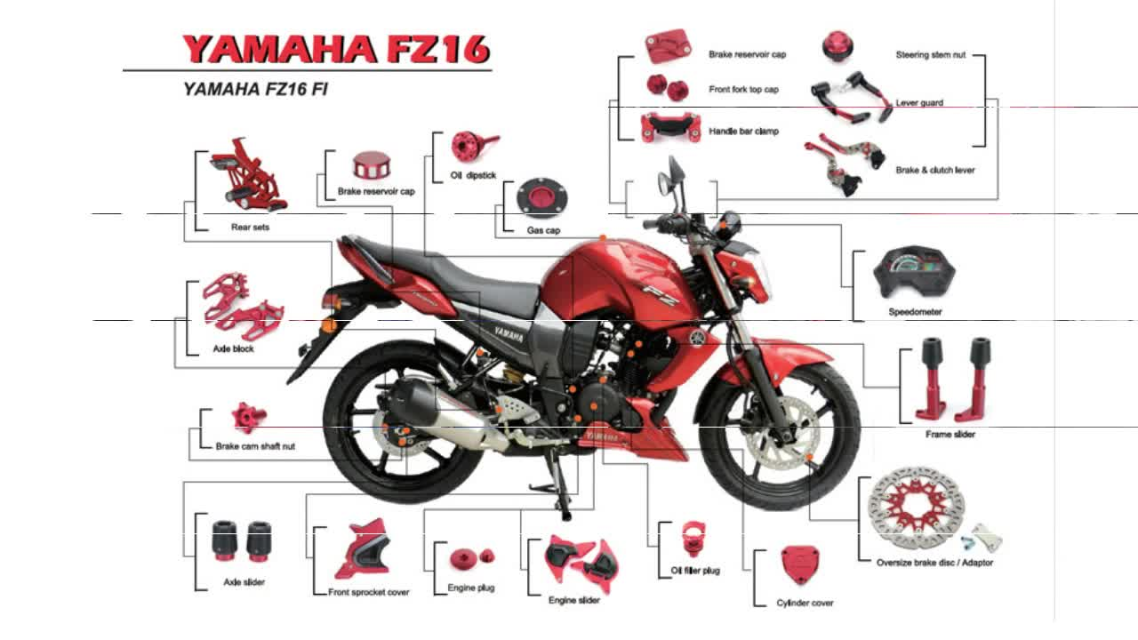 Fz16 motorcycle parts and accessories for yamaha street for Buy yamaha motorcycle parts