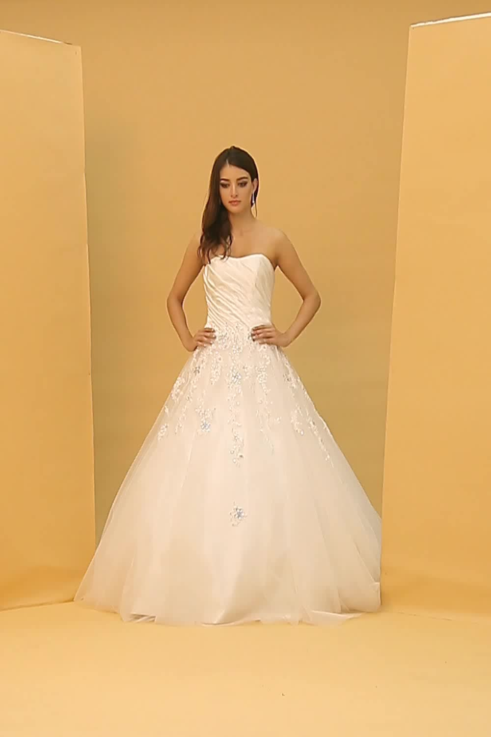 Ball Gown Wedding Dress Sparkle & Shine Floor-length Sweetheart Lace ...