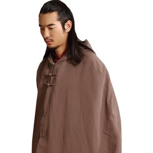 唯三中國風棉襖衣服禪修斗篷男道袍佛系唐裝披風漢服男古風仙氣冬